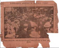 Ada speaking at a suffragettes' meeting in Buffalo, NY