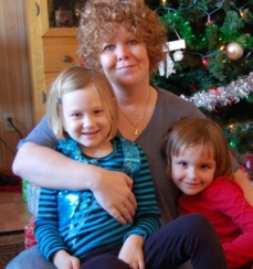 Britt Reints' mom with her granddaughters.