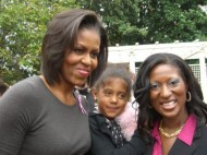Maimah Karmo with First Lady Michelle Obama