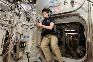 Samantha Cristoforetti at the ISS, December 15, 2014
