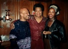 Jackee Holder meeting Maya Angelou