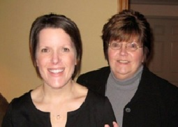 Jenn Schneider with her Mom, Roberta