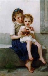 """""""Sisters"""" by Elizabeth Jane Gardner Bouguereau"""