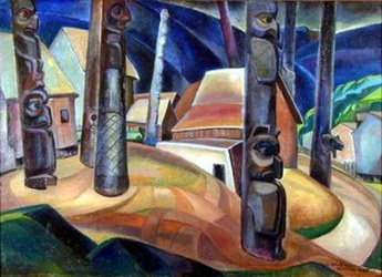 """Kispiox Village"" by Emily Carr"